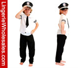 Kids Halloween Carnival Party Outfit Boys Captain Role Play Costume
