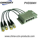 4CH CCTV Cat5 Passive Power Balun with Data (PVD304H)