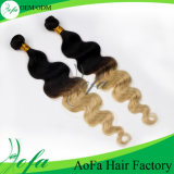 Two Tone Color Malaysian Remy Human Hair for Women