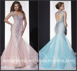 Pink Blue Vestidos Tulle Panoply Party Prom Gown Evening Dress EV14680