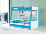 Contemporary Knock-Down MDF High Gloss Bunk Bed for Kids (A06-B)