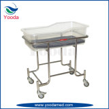 Stainless Steel Frame Baby Cot with Castors