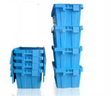 Industrial High Strength Plastic Moving Boxes with Attached Lids (PK64315)
