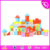 Wholesale Customize 50 Pieces Preschool Wooden Children Educational Letter Blocks W13b033