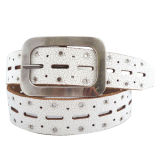 Fashion Lady′s Rivet Leather Belt (KY1781)