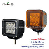 18W CREE LED Work Lamp (With Amber Light Cover)