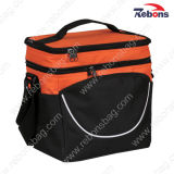 Quilted Hot and Cold Insulated Cooler Bags with Double Compartments