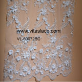 White Polyester &Rayon 3D Lace Fabric for Wedding Dress Vl-60072bc