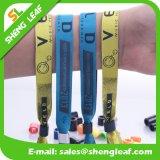 Custom Woven Nylon Wristband with Plastic Lock
