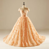 off The Shoulder Beading Lace Prom Quincearean Evening Gown