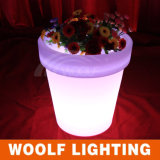 Lighted up Popular LED Plastic Planter Pots
