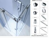 Showerroom Glass Sliding Door Accessories B005 Doulbe Door Open