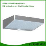 Aluminium 48LED Outdoor Solar Garden Lamp with 3 Lighting Modes