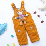 P1122 Free Shipping Winter Baby Boys and Girls Corduroy Suspender Trousers Overalls Little Bear Toddlers Jumpsuit Outfit Garments