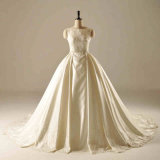 Saitn Sequin Ball Gown Bridal Wedding Dress