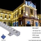 Performance Linear Exterior 18W LED Wall Washer Fixture