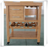 Solid Bamboo Wine Shelf for Kitchen