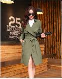 2015 Autumn New Fashion Long Belted Jacket