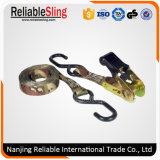 25mm 0.8t Camo Ratchet Tie Down Strap with Hooks