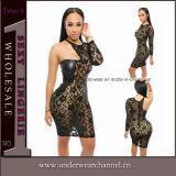 Sexy Women One-Shoulder MIDI Evening Cocktail Bodycon Dress (22613-2)