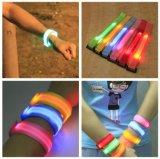 Promotion Gift Nylon Safety Running Warning Wristband Glow Band Color LED Sport Bracelet