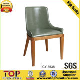 Hotel Dining Room PU Leather Wooden Chair