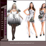 Women Carnival Dead Zombie Adult Halloween Theatrical Bride Costume (TLQ2843)