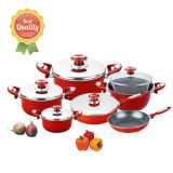 12 Pieces Nonstick Cookware Set Made of Aluminum Alloy