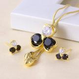 Free Samples Elegant Jewelry 14k Gold Color Jewelry Set (61158)