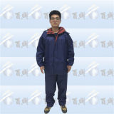 Navy Polyester Rain Suit with Reflective Tape