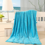 Top Selling Polyester Solid Plain Fleece Blanket