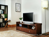 Sturdy Wooden Living Room Furniture Walnut TV Cabinet (TVS09)