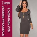 Fashion Seamless Grey Sexy Woman Dresses (L27898-6)