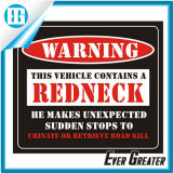 Customized Car Warning Sticker OEM