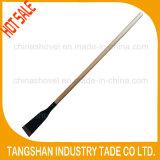 "Long Wood Handle Fordged Steel 4"" Ice Spade"
