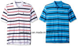 Good Fitting Mens Cotton Polo Shirt with Colorful Stripe