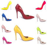 Big Promotion Many Colors Celebrity Heels Red Color Shoes Patent Leather Pointed Toe Shoes So Sexy Pumps Patent Red Heels