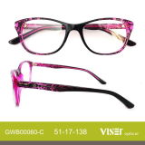 Acetate Optical Frame Eye Glass Eyeglass Frames with New Design (60-C)