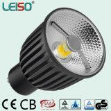 Alumium Housing COB Reflector Design 6W 400lm GU10 LED Light