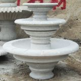 White Marble Fountain Garden Statue