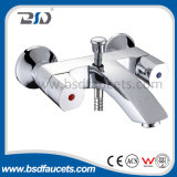 Double Lever Brass Diverter Chrome Bath Mixer