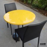 Kingkonree Modern Round Yellow Solid Surface Coffee Table