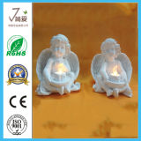 Polyresin Angle Sculpture Solar Light Polyresin Craft for Decoration