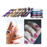 Golden and Silver Strips Nail Decoration for Nail Art