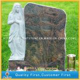 Vizag Blue, Aurora Granite Monument/Tombstone with Sculpture