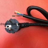 1.2m Black Ce Approval European Power Cable