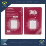 Customized Tamper Evident Security Gold Coin PVC Card Set