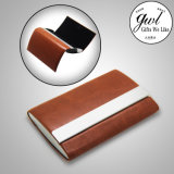 Customized Leather Card Holder Open Two Sides