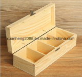 Custom Handmade Wooden Gift Box with Hinged Lids