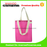 Fashionable Polyester Pink Mesh Travel Beach Tote Bags with Handle